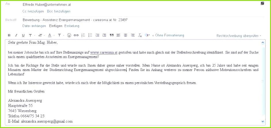 Bewerbung Email Muster E Mail 9 Deckblatt Per