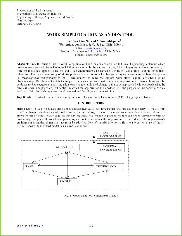 PDF WORK SIMPLIFICATION AS AN OD s TOOL