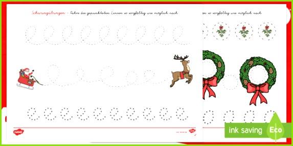 Weihnachtliche Schwungübungen Arbeitsblätter Weihnachten Schreiben Advent Dezember übung Blätter