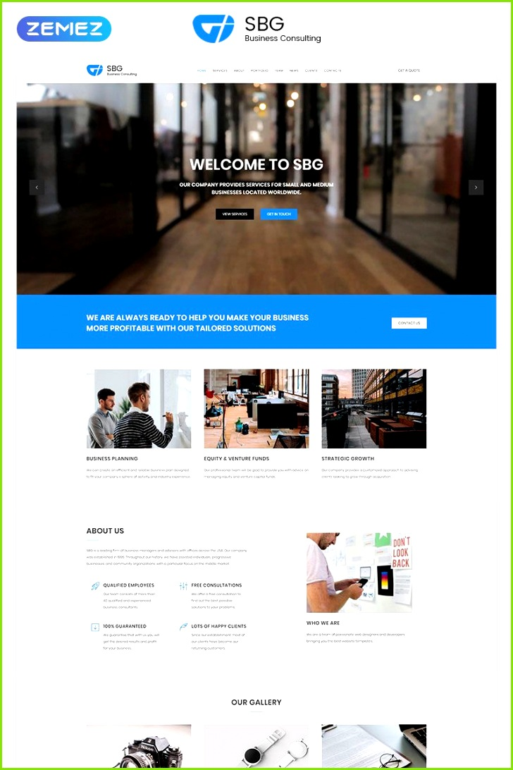 SBG Business Consulting HTML Landing Page Template LandingPage Consulting Business SBG