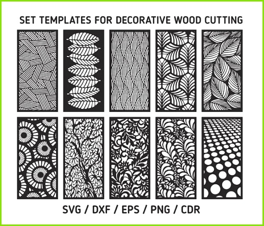 Laser cut vector Cutting templates svg templates for decorative cutting templates for decorative w