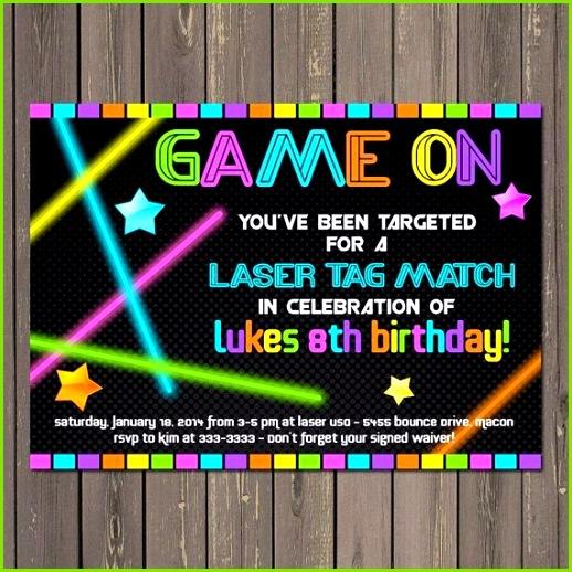 Buegelperlenvorlagen Einladung Kindergeburtstag Vorlage Kartbahn Laser Tag Invitation Laser Tag Birthday Invitation Neon Party