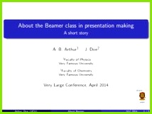 Beamer is a LaTeX class to create powerful flexible and nice looking presentations and slides