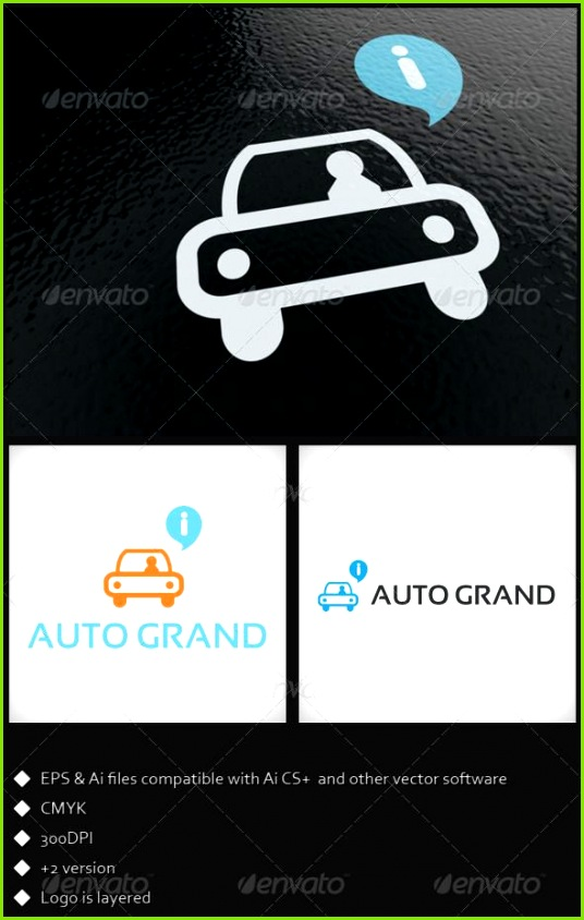Auto Grand Logo Template Symbols Logo Templates logo template car auto clean simple