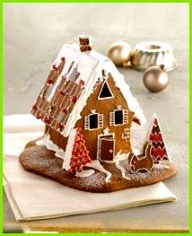 Hexenhäuschen amicella Zuckerguss Puderzucker Lebkuchenhaus Vorlage Weihnachtszeit Hexenhaus Kekse