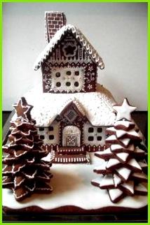 Gingerbread Tower RymskayaTatyana 9 Weihnachtszeit Plaetzchen Weihnachten Weihnachten Lebkuchen Lebkuchenhaus Vorlage