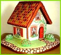 gingerbread house Torte Weihnachten Lebkuchenhaus Vorlage Lebkuchen Dorf Weihnachtslebkuchenhaus Lebkuchenplätzchen