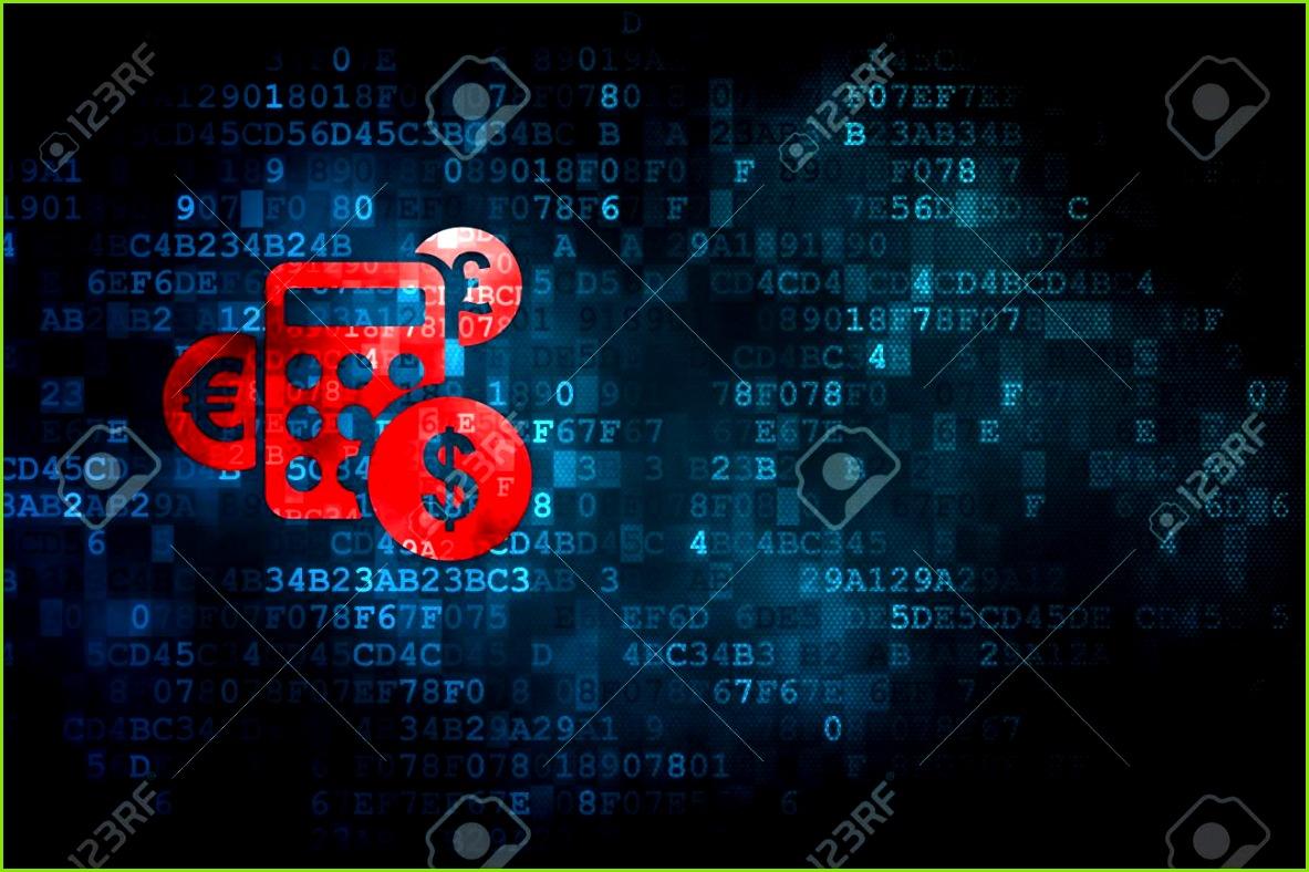 News concept pixelig Symbol Rechner auf digitale Hintergrund leere copyspace für Karte Text
