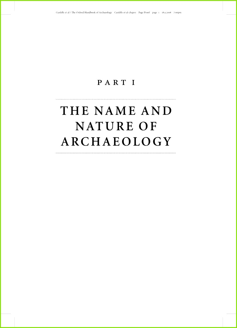 PDF The Discipline of Archaeology