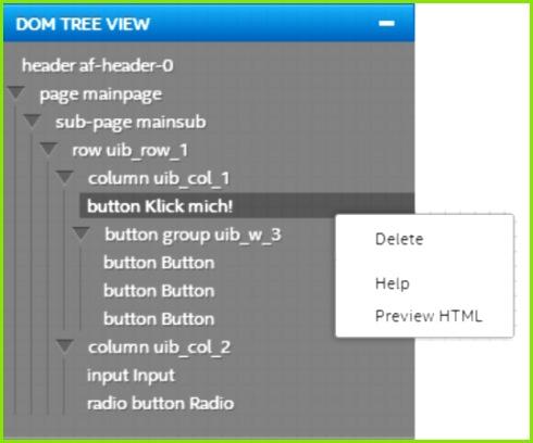 Abbildung 4 – Die DOM Tree Anzeige