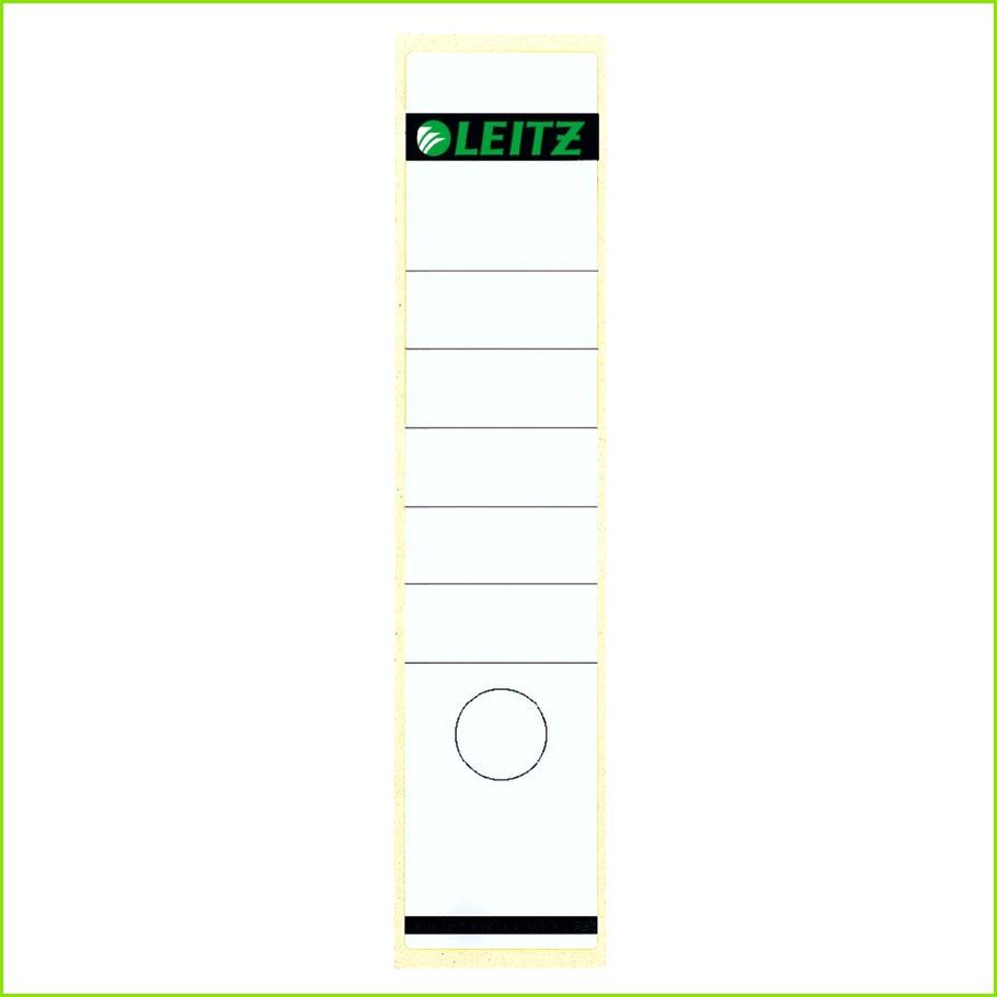 Leitz Rückenschilder für Aktenordner Selbstklebend Bedruckbar Kompatibel mit standardmäßigen Aktenordnern mit einer Rückenbreite