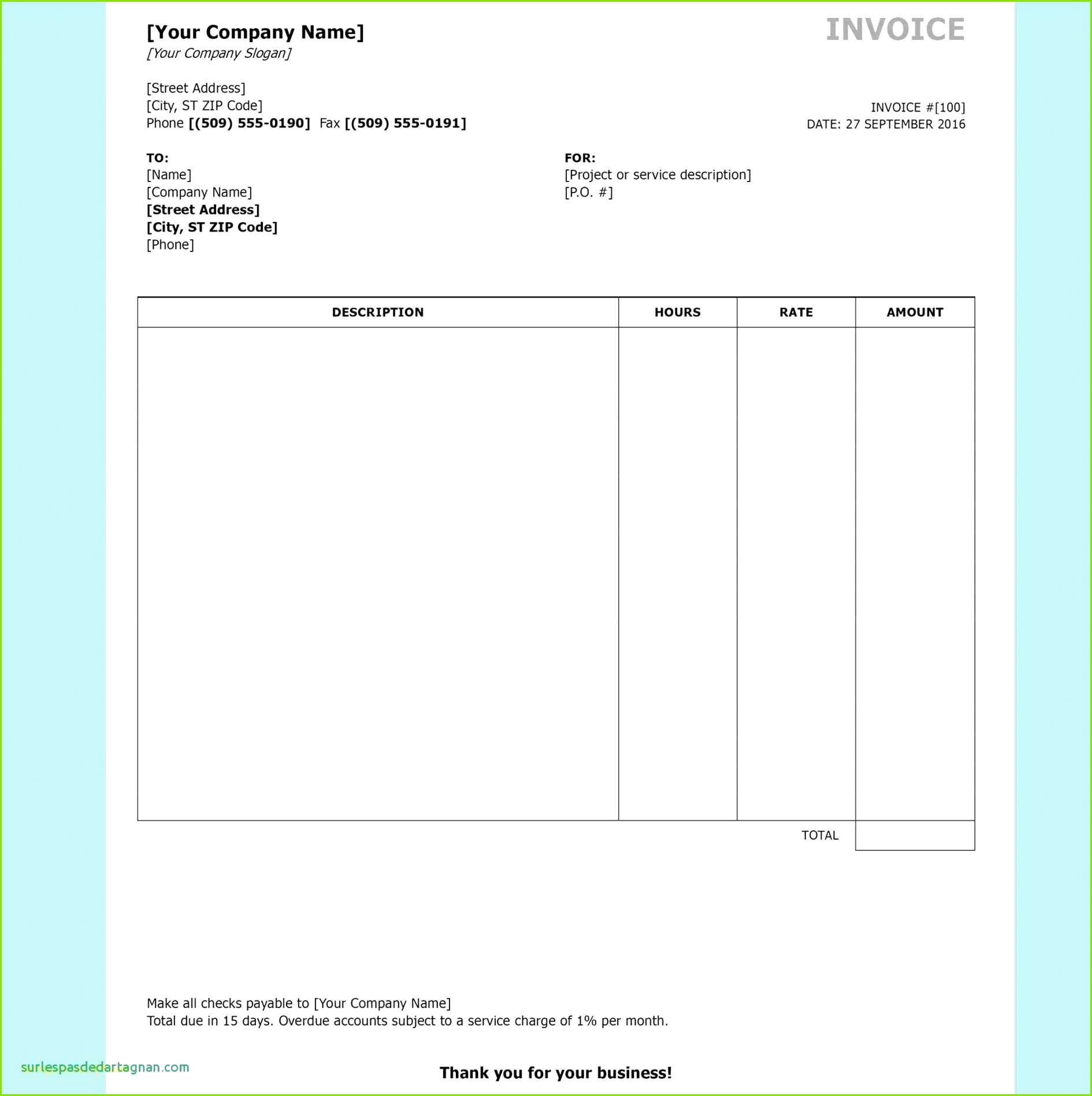 Excel Invoices Templates Free and Invoice Word Template Unique Ivoice Template 0d Archives Free Resume