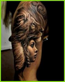 Löwen Tattoo auf der Schulter Tattoos Frauen Tattoo Gesicht Tattoo Oberarm Frau Schwarze