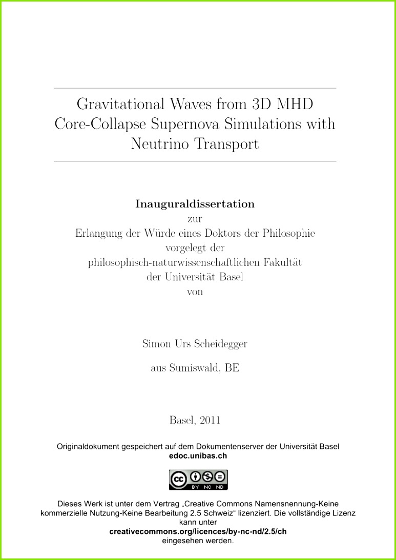 PDF Gravitational waves from 3D MHD core collapse supernova simulations with neutrino transport