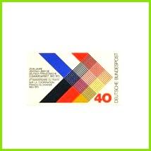 10 Jahre Vertrag über deutsch französische Zusammenarbeit 40 Pf Germany 1973 Design Heinz Schillinger mnh graphilately