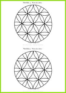 Mandala Ausmalbilder Vorlage Mandalas zum Ausdrucken Blume des Lebens Mandala 10 als PDF kostenlos zum Download