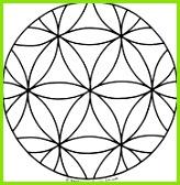 Blume des Lebens Mandala Ausmalbilder Vorlage Mandalas zum Ausdrucken und Ausmalen Nr 4