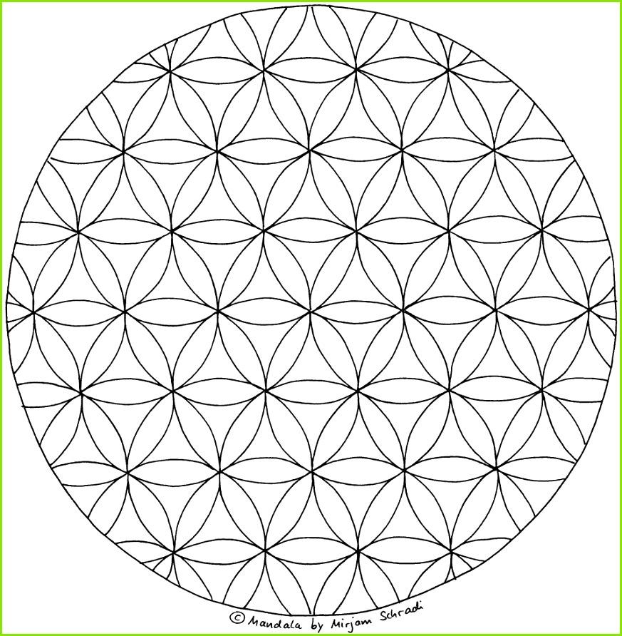 Blume des Lebens ausdrucken Malvorlage Mandalas zum Ausdrucken Ausmalen 8 Kinder und