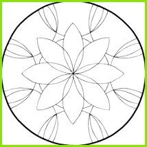 MANDALAS ZUM AUSDRUCKEN AUSMALEN Blumen