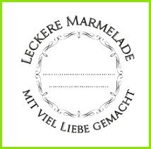 Marmelade hübsch verpackt etiketten