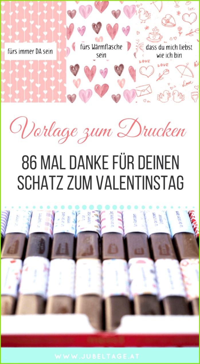 Merci Druckvorlage zum Valentinstag für Merci Schokolade