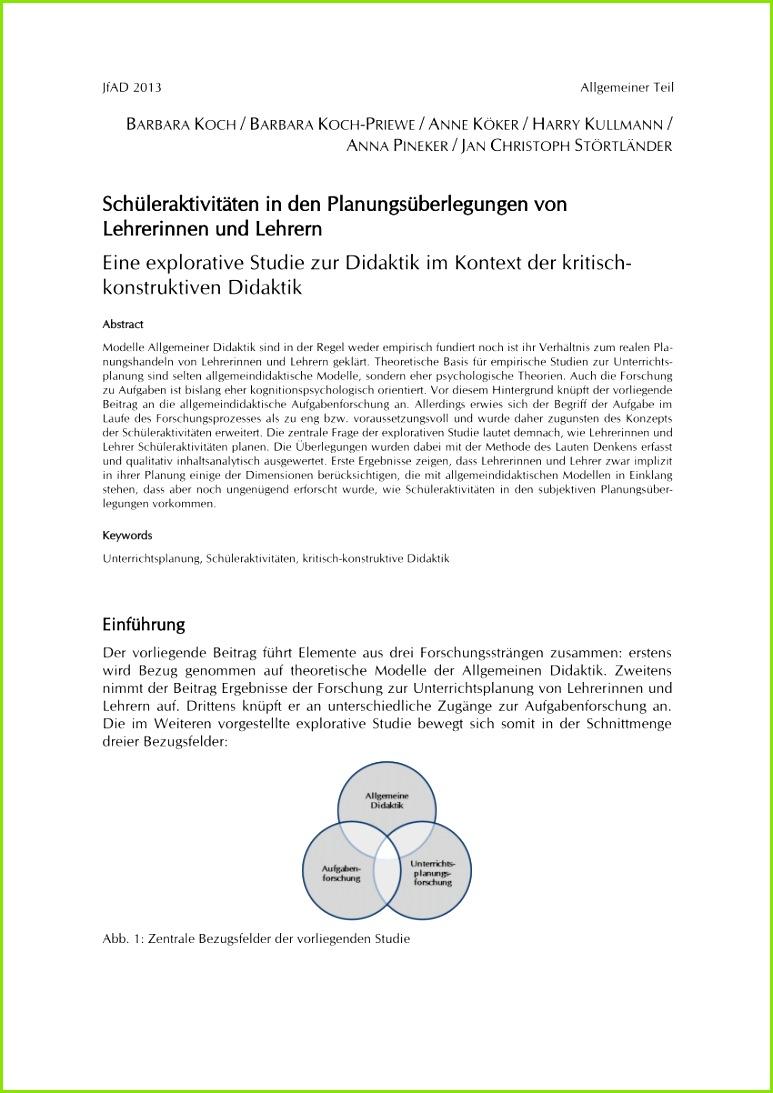PDF Schüleraktivitäten in den Planungsüberlegungen von Lehrerinnen und Lehrern Eine explorative Stu zur Didaktik im Kontext der kritisch konstruktiven