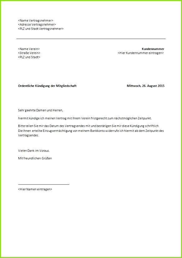 kündigung mietvertrag muster