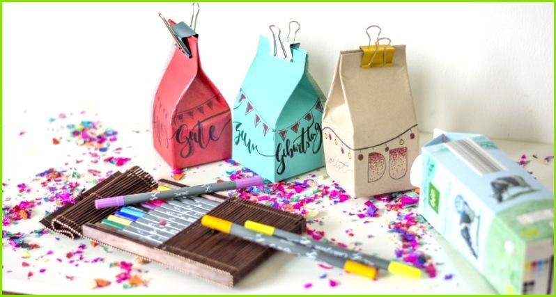 Geschenkboxen aus Milchkartons
