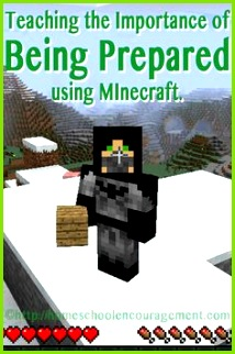 Teaching the art of being prepared to children using this fun Minecraft lesson and extension activities