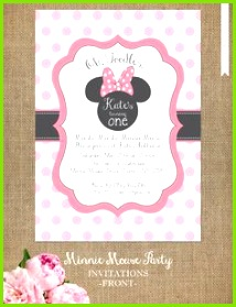 Minnie Mouse Invitation Editable Birthday Invitation Template Pink Minnie Mouse Birthday Party DIY Printable PDF Instant Download BDAY1