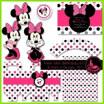 Are you planning a Minnie Mouse Party This FREE Minnie Mouse Party Printable set from Shery K Designs is just the sweetest The kit includes – 1 Printable