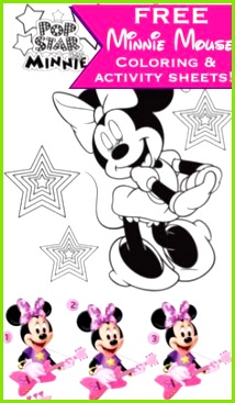 Free Printable Minnie Mouse Coloring Pages Activity Sheets Minnie Mouse Coloring Pages Disney