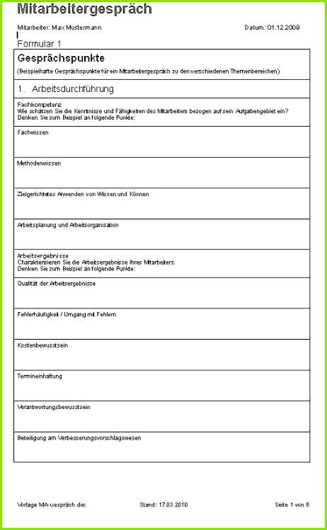 Mitarbeitergespräche Kita Vorlagen Schöne Mitarbeitergespräch Word formular
