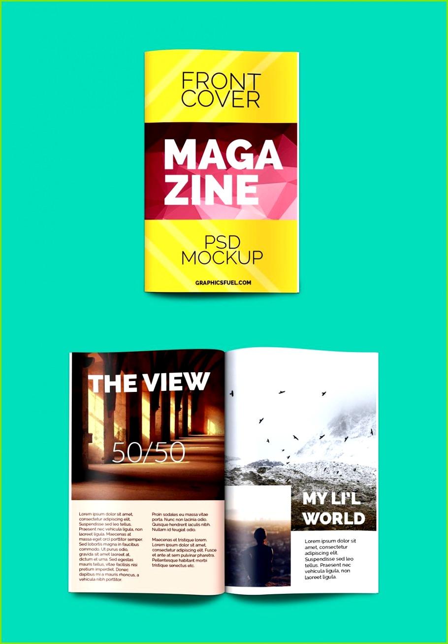 Free Magazine PSD Mockup 3 2 MB