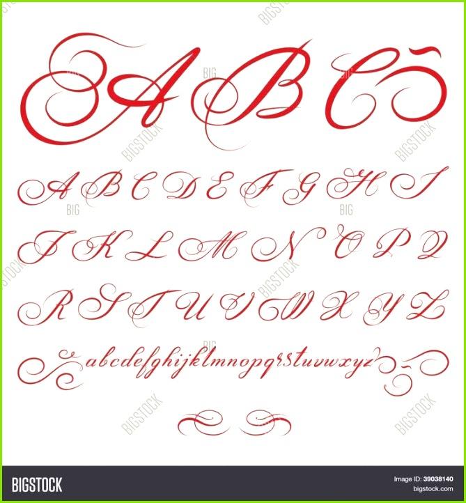 Bildergebnis für kalligraphie alphabet vorlagen