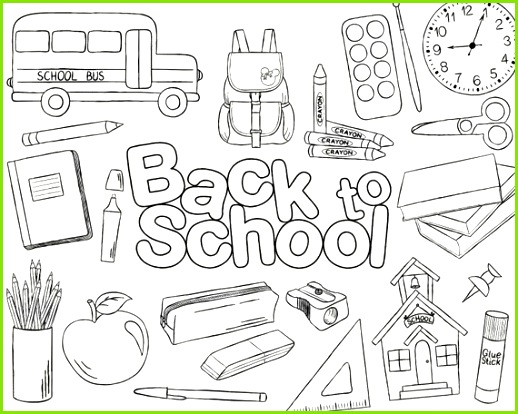 Doodle Back To School Vector Pack Hand Drawn School Clipart School Supplies Backpack Notebook S