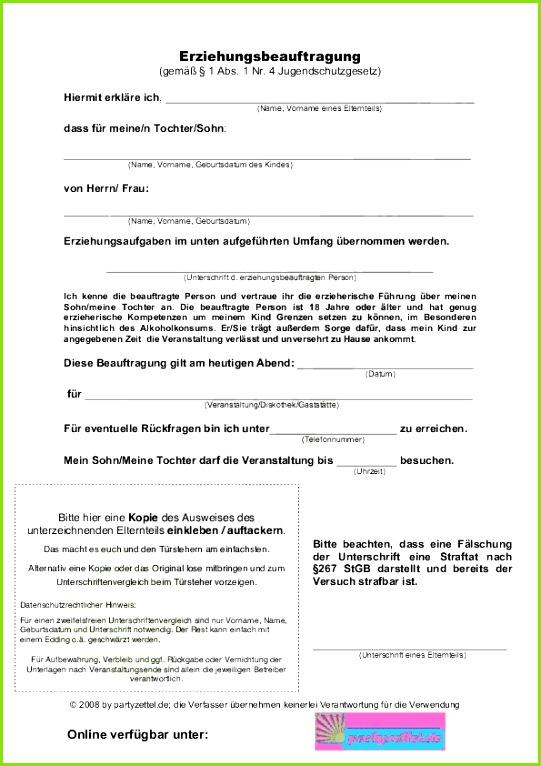 Partyzettel PDF