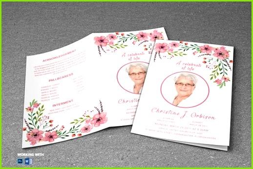 Druckbare Beerdigung Programm Vorlage MS Word und shop Vorlage sofort DOWNLOAD