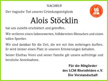 Danksagung Beerdigung Vorlagen Alois Stöcklin Trauer Traueranzeigen & Nachrufe Badische