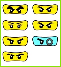 Image result for lloyd ninjago eyes printable Ninjago Augen Geburtstagseinladungen Kindergeburtstag Ninja Geburtstag
