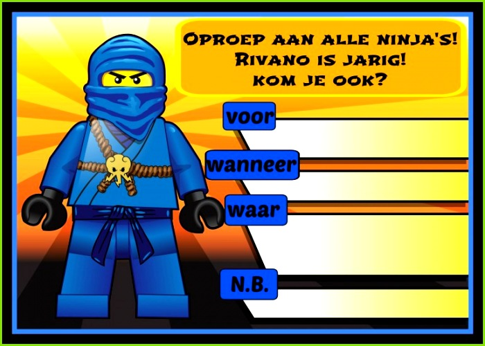 Einladungen Ninjago Einladung ninjago einladung 0D