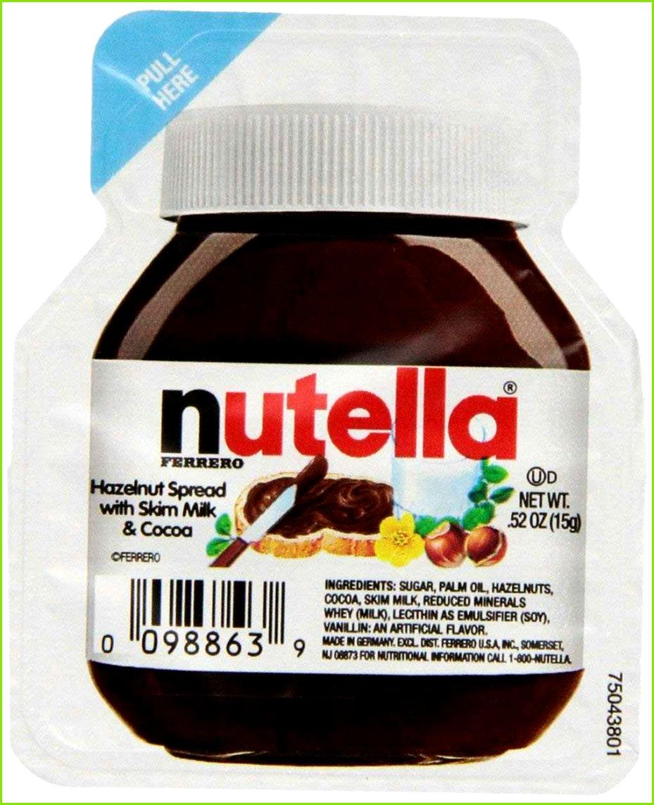 Nutella Etikett Vorlage Elegant Ferrero Nutella Hazelnut Spread Single Serve Mini Cups 52 Oz Each