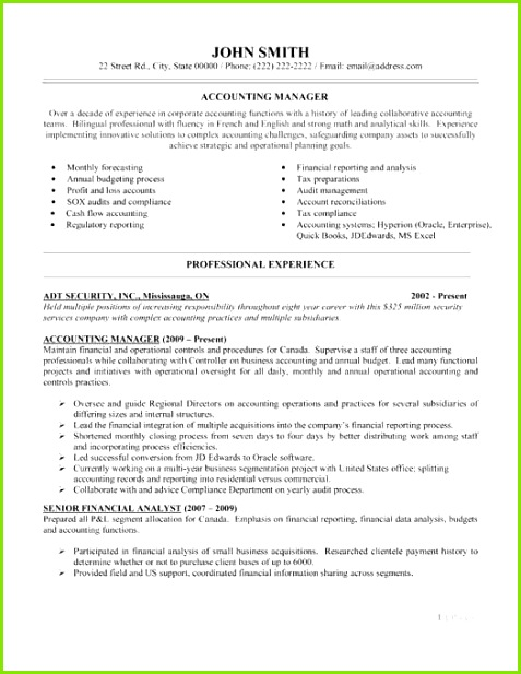 Accounting pliance Senior Accountant Resume Awesome Empty Resume 0d Archives Aurelianmg 2018