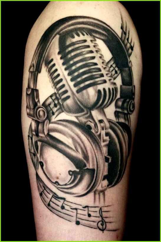 This old school mic tho Music tattoo designs