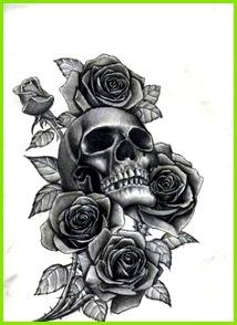 Tattoo Gesicht Bunte Tattoos Totenkopf Tattoos Totenkopf Tattoo Ideen Rose Tattoo Vorlage