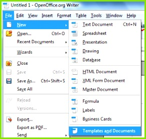 Instead of being able to access it the way you do with Impress you choose File New Templates and Documents to it