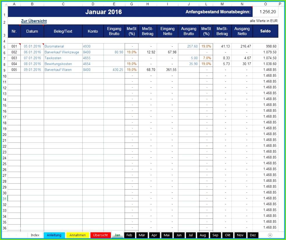 Excel Kassenbuch Vorlage Kostenlos Inspirierende 8 Excel Kassenbuch durchgehend Creative Kassenbuch Kostenlos Excel