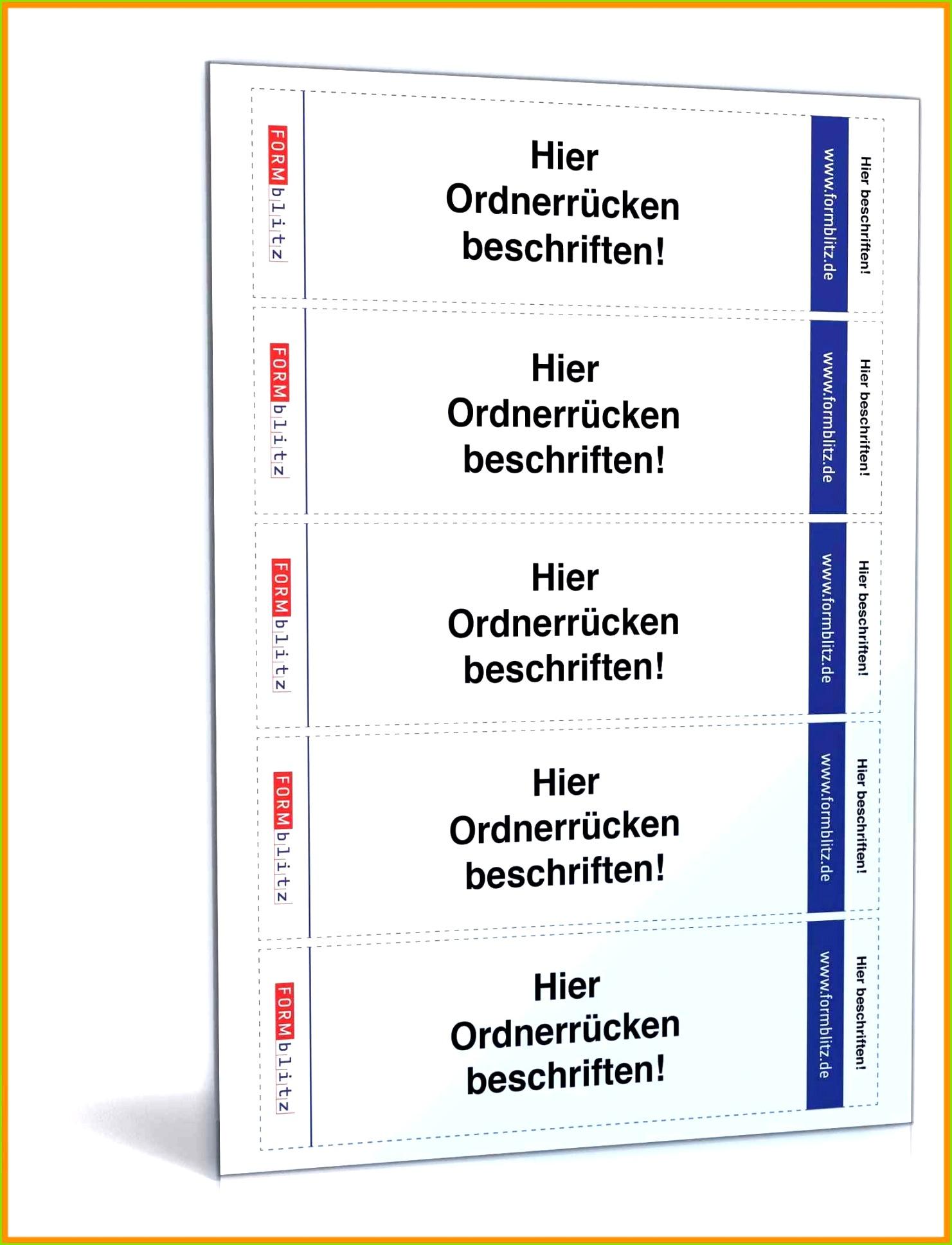 Leitz ordnerrücken Vorlage Word 2016