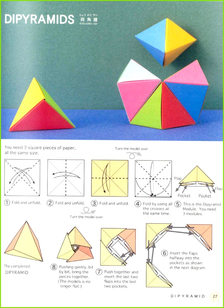 Polyhedron origami for beginners origami triangles