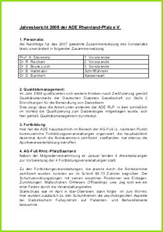 Jahresbericht 2008 der ADE Rheinland Pfalz e V